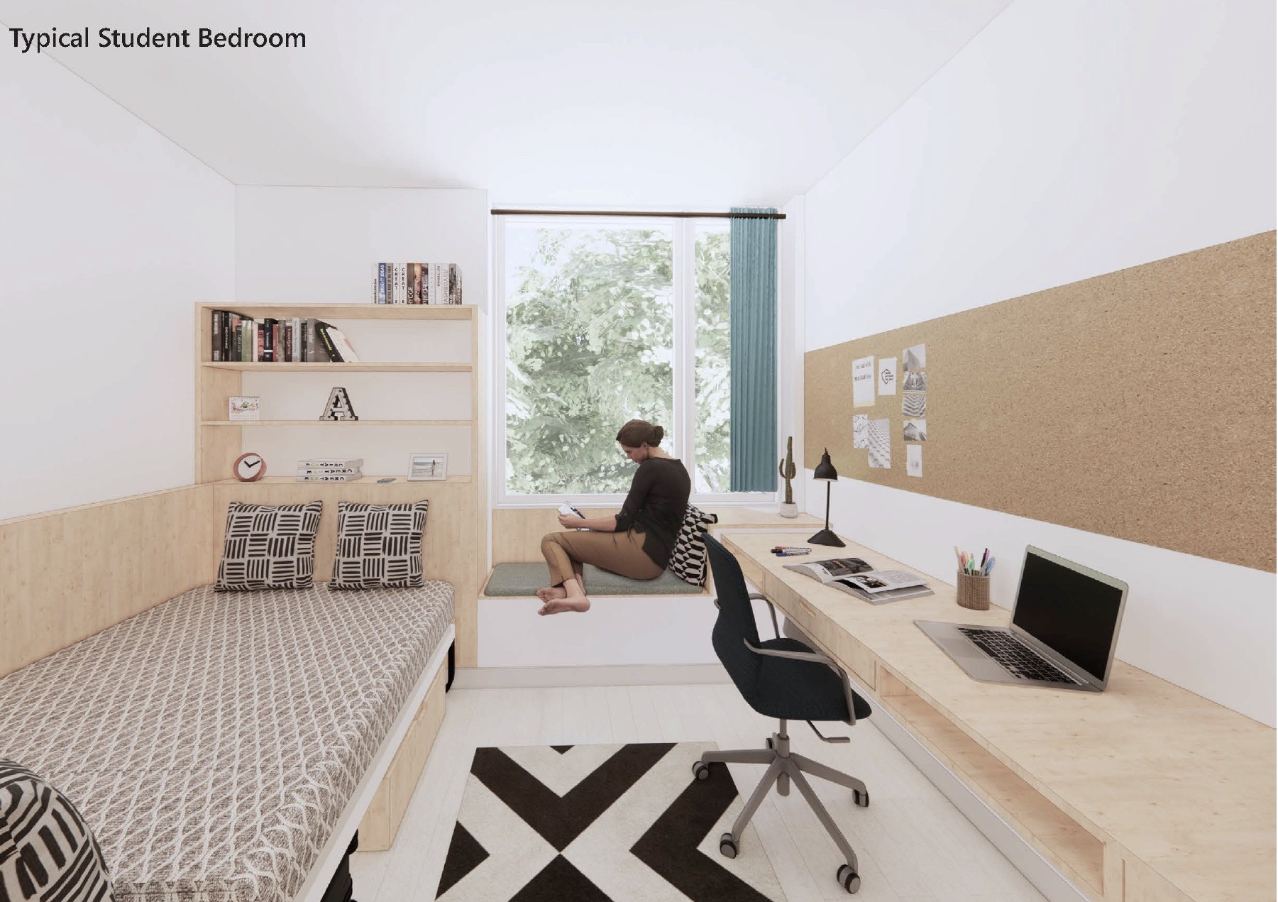 Lucy Cavendish College: Typical Student Bedroom